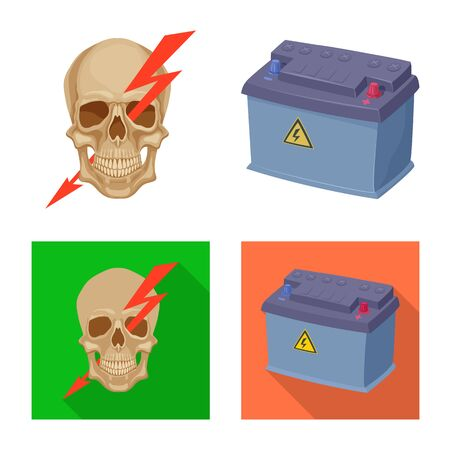 Isolated object of electricity and electric sign. Collection of electricity and energy vector icon for stock. Illustration