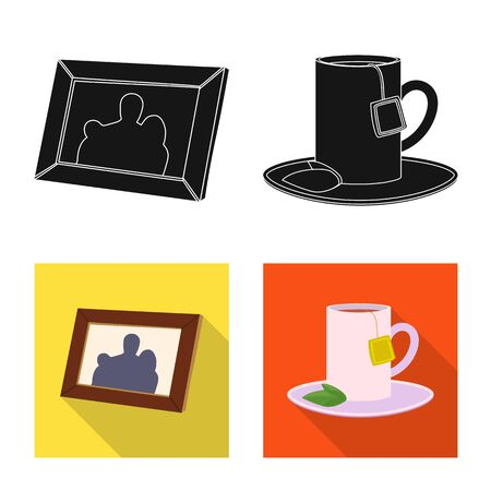 Isolated object of dreams and night symbol. Collection of dreams and bedroom stock symbol for web.  イラスト・ベクター素材