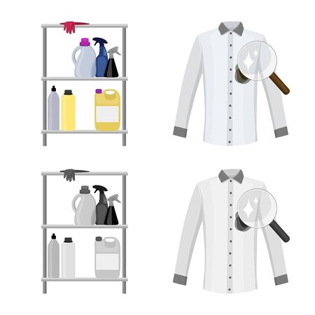 Vector design of laundry and clean icon. Set of laundry and clothes stock symbol for web.