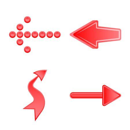 Vector design of element and arrow symbol. Collection of element and direction stock vector illustration. Stock Illustratie