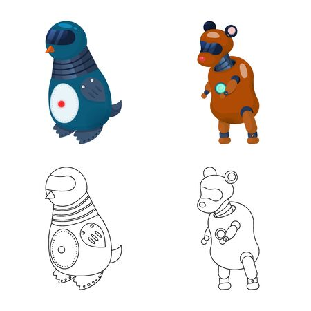 Isolated object of toy and science icon. Collection of toy and toy vector icon for stock.  イラスト・ベクター素材