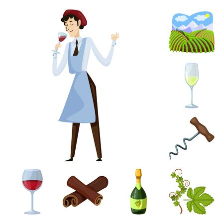 Isolated object of grape and winery icon. Collection of grape and manufacturing stock symbol for web.