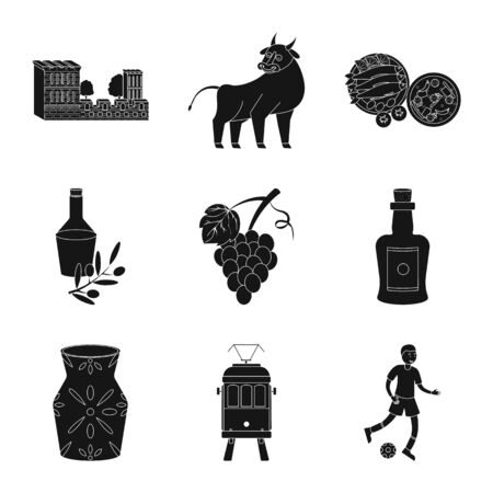 Vector design of and country icon. Collection of and Portugal vector icon for stock. Ilustrace