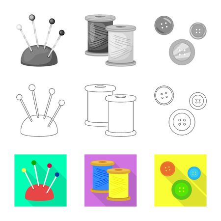 Vector illustration of craft and handcraft sign. Set of craft and industry stock symbol for web. Иллюстрация
