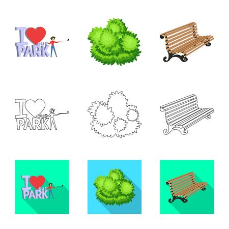 Vector design of urban and street icon. Set of urban and relaxation vector icon for stock.