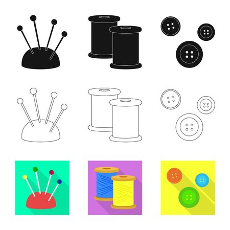 Vector illustration of craft and handcraft sign. Collection of craft and industry vector icon for stock.