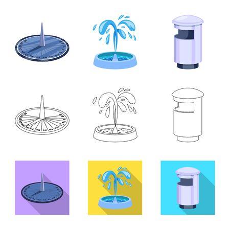 Conception de vecteur de signe urbain et de rue. Collection d'illustration vectorielle stock urbain et détente. Vecteurs