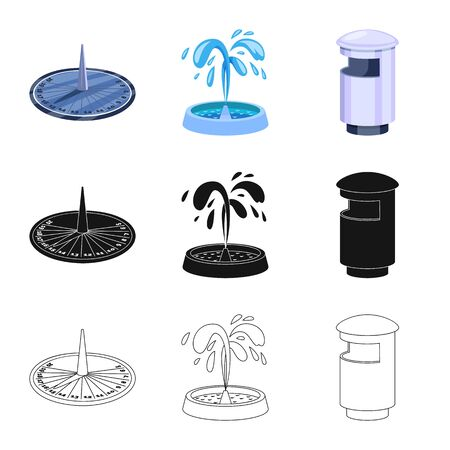 Isolated object of urban and street icon. Collection of urban and relaxation stock vector illustration.