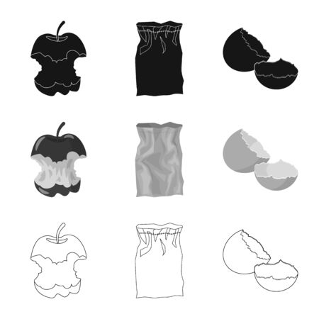 Vector illustration of dump and sort icon. Collection of dump and junk vector icon for stock.