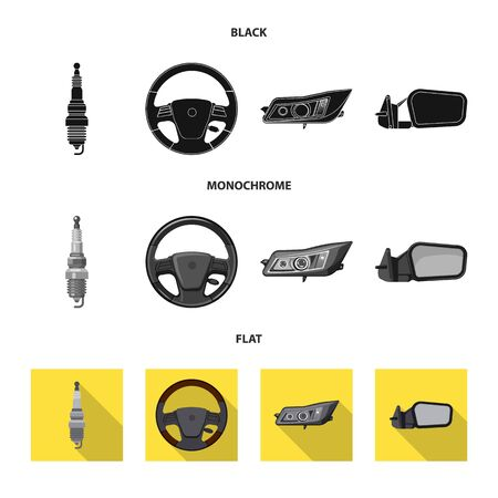 Vector design of auto and part icon. Set of auto and car vector icon for stock.
