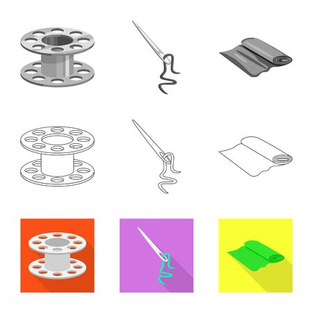 Vector design of craft and handcraft icon. Collection of craft and industry vector icon for stock.