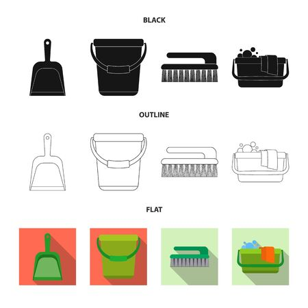 Isolated object of cleaning and service symbol. Collection of cleaning and household vector icon for stock. Ilustração