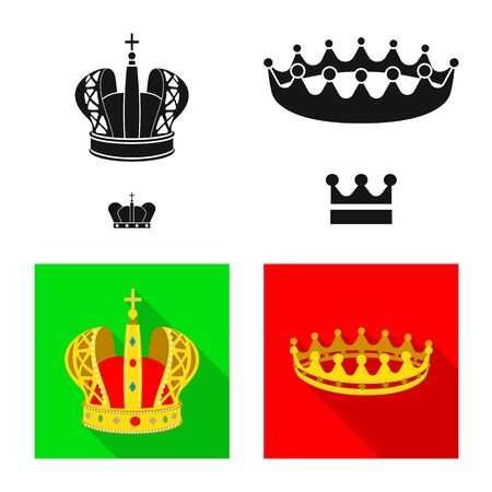 Vector illustration of medieval and nobility logo. Set of medieval and monarchy vector icon for stock.