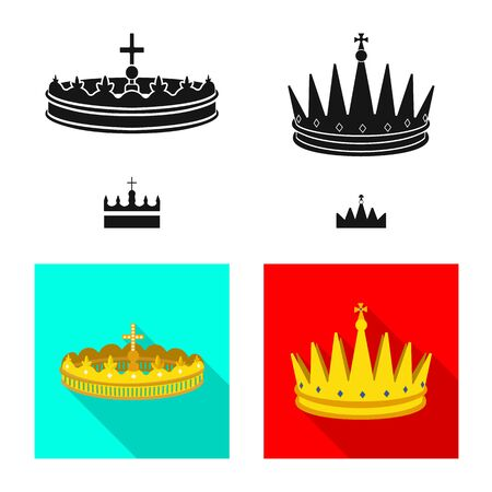 Vector illustration of medieval and nobility icon. Set of medieval and monarchy stock symbol for web.