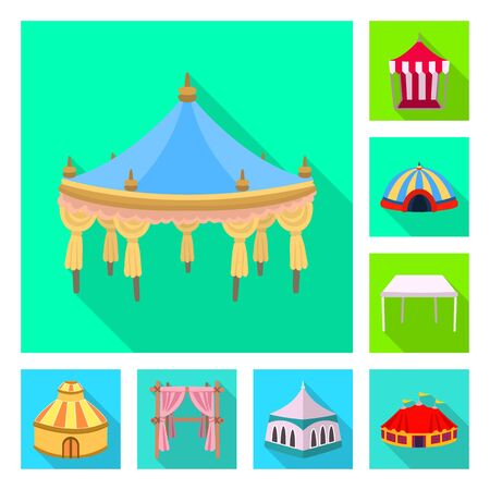 Vector illustration of awning and shelter sign. Collection of awning and canopy vector icon for stock. 일러스트