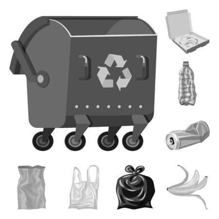 Vector illustration of order and recycling logo. Set of order and sort stock vector illustration.