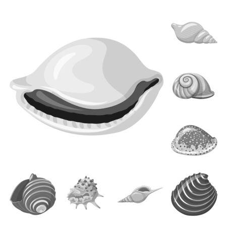 Vector illustration of aquarium and aquatic sign. Set of aquarium and decoration stock vector illustration. Illustration