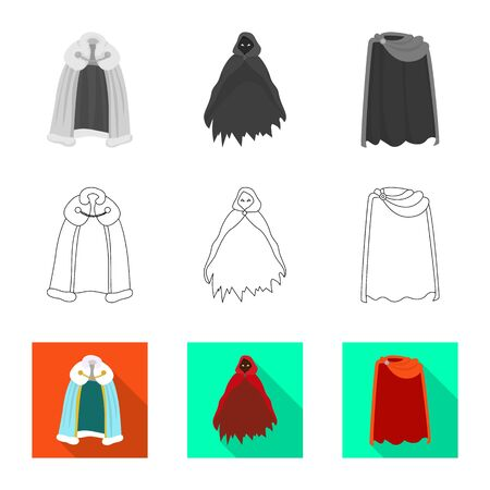 Vector design of material and clothing icon. Collection of material and garment stock vector illustration.
