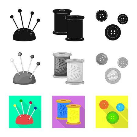 Vector design of craft and handcraft symbol. Collection of craft and industry vector icon for stock.