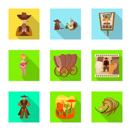Vector design of texas and history symbol. Set of texas and culture vector icon for stock.