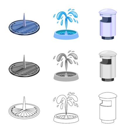 Vector design of urban and street symbol. Collection of urban and relaxation vector icon for stock.