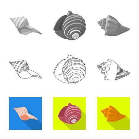 Vector illustration of animal and decoration symbol. Collection of animal and ocean stock symbol for web.