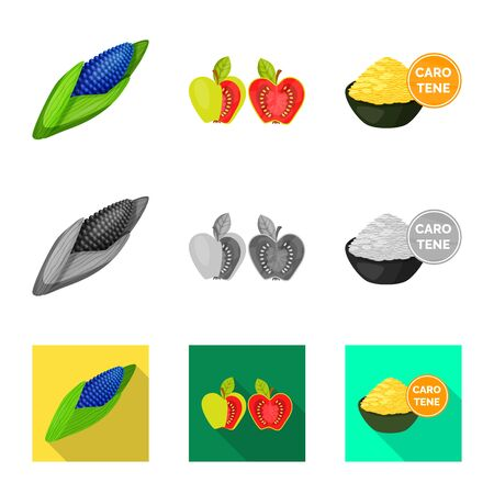 Vector design of test and synthetic icon. Set of test and laboratory stock vector illustration. 写真素材 - 124997210