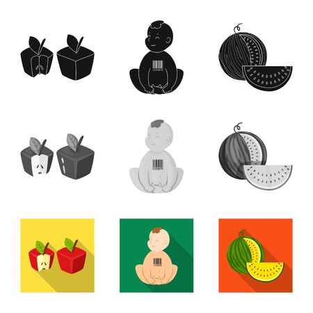 Vector design of test and synthetic sign. Collection of test and laboratory vector icon for stock.