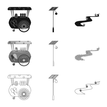Vector design of urban and street icon. Collection of urban and relaxation vector icon for stock.