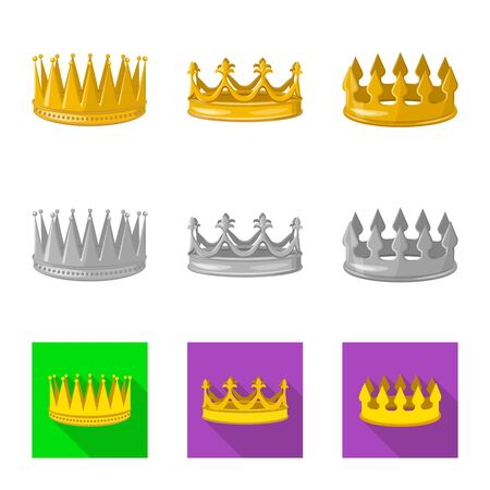 Isolated object of medieval and nobility icon. Set of medieval and monarchy vector icon for stock.