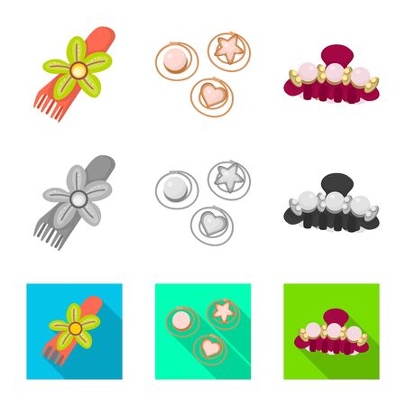 Isolated object of beauty and fashion sign. Set of beauty and female vector icon for stock.