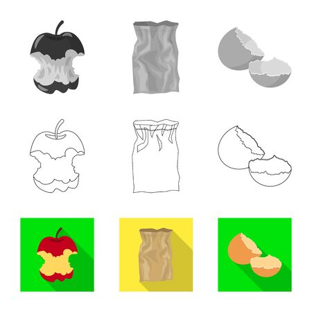 Vector illustration of dump and sort sign. Collection of dump and junk vector icon for stock. Illustration