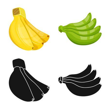 Vector illustration of natural and vegetarian symbol. Set of natural and eating stock symbol for web. Illustration