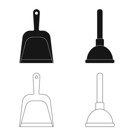 Objet isolé du logo de nettoyage et de service. Ensemble de symbole boursier de nettoyage et de ménage pour le web.
