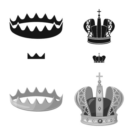 Isolated object of medieval and nobility symbol. Set of medieval and monarchy stock symbol for web.