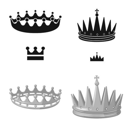 Vector design of medieval and nobility icon. Set of medieval and monarchy stock symbol for web.