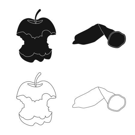 Vector design of dump and sort logo. Set of dump and junk stock symbol for web. Illustration