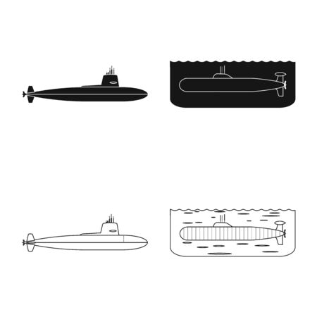 Vector design of war and ship sign. Collection of war and fleet stock vector illustration. Illustration
