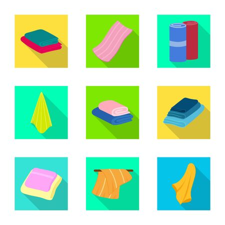 Vector design of soft and clean icon. Set of soft and household vector icon for stock. Ilustrace