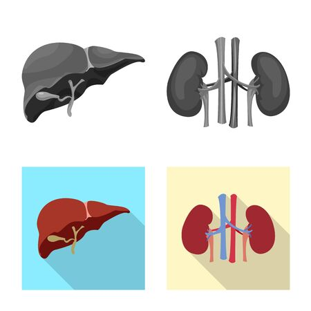 Vector design of body and human symbol. Collection of body and medical vector icon for stock.