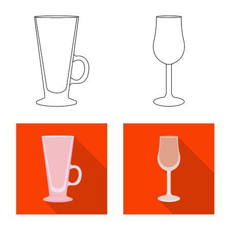 Vector illustration of form and celebration sign. Collection of form and volume vector icon for stock. Illustration
