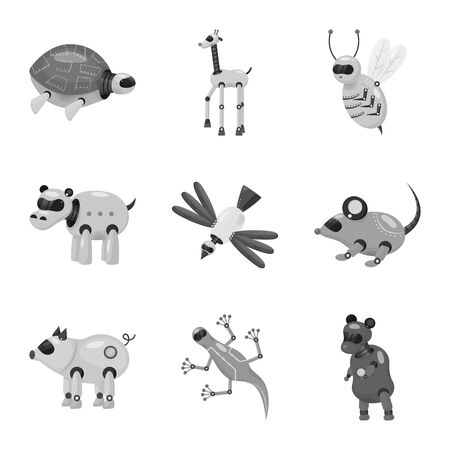 Vector illustration of toy and science icon. Set of toy and toy stock vector illustration. Illustration