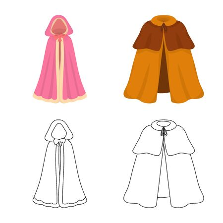 Vector design of material and clothing icon. Set of material and garment vector icon for stock.