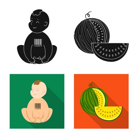 Isolated object of test and synthetic. Collection of test and laboratory vector icon for stock. Illustration