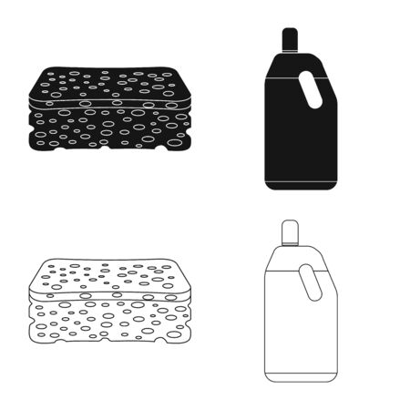 Oggetto isolato di pulizia e segno di servizio. Set di pulizia e famiglia icona vettore per il magazzino.