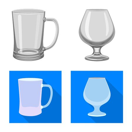 Vector design of form and celebration symbol. Set of form and volume stock symbol for web. Ilustrace