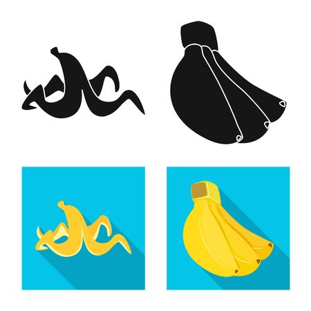 Vector design of natural and vegetarian icon. Set of natural and eating stock symbol for web.