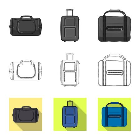 Il design del vettore di valigia e bagaglio icona. Set di valigia e viaggio simbolo azionario per il web.