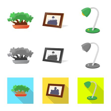 Isolated object of dreams and night . Set of dreams and bedroom stock symbol for web. Ilustración de vector
