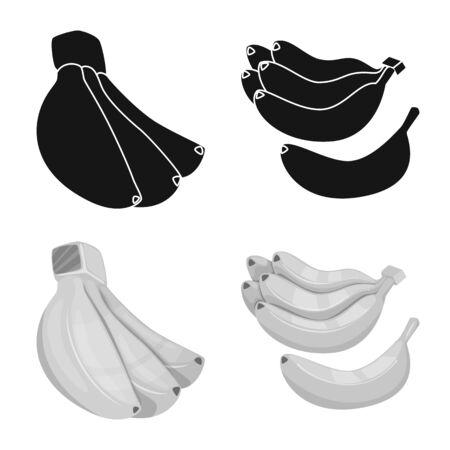 Vector illustration of natural and vegetarian symbol. Set of natural and eating stock vector illustration. Illustration